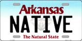 Native Arkansas Background Novelty Metal License Plate