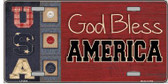God Bless America Metal Novelty License Plate