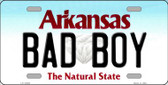 Bad Boy Arkansas Background Novelty Metal License Plate