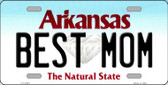 Best Mom Arkansas Background Novelty Metal License Plate