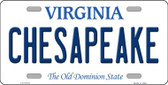 Chesapeake Virginia Background Novelty Metal License Plate