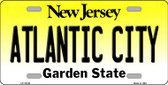 Atlantic City New Jersey Background Novelty Metal License Plate