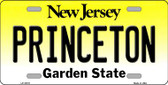 Princeton New Jersey Background Novelty Metal License Plate