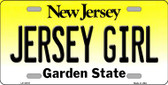 Jersey Girl New Jersey Background Novelty Metal License Plate