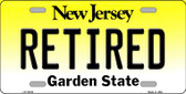 Retired New Jersey Background Novelty Metal License Plate