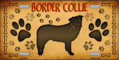 Border Collie Novelty Metal License Plate