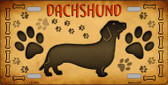 Dachshund Novelty Metal License Plate