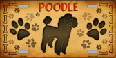 Poodle Novelty Metal License Plate