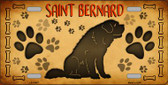 Saint Bernard Novelty Metal License Plate