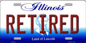 Retired Illinois Background Metal Novelty License Plate