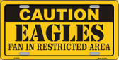 Caution Eagles Metal Novelty License Plate