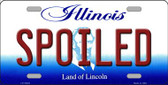 Spoiled Illinois Background Metal Novelty License Plate