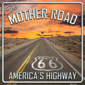 The Mother Road Novelty Metal Square Sign