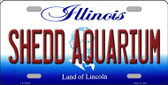 Shedd Aquarium Illinois Background Metal Novelty License Plate