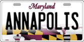 Annapolis Maryland Background Metal Novelty License Plate