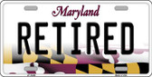 Retired Maryland Background Metal Novelty License Plate