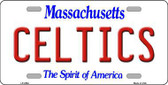 Celtics Massachusetts Novelty State Background Metal License Plate