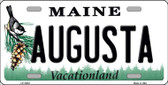 Augusta Maine Background Metal Novelty License Plate