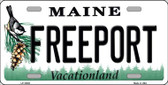Freeport Maine Background Metal Novelty License Plate