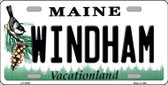 Windham Maine Background Metal Novelty License Plate