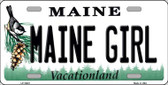 Maine Girl Background Metal Novelty License Plate