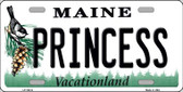 Princess Maine Background Metal Novelty License Plate