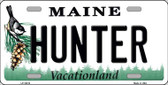 Hunter Maine Background Metal Novelty License Plate