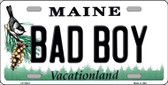 Bad Boy Maine Background Metal Novelty License Plate