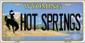 Hot Springs Wyoming Background Metal Novelty License Plate