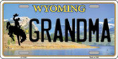 Grandma Wyoming Background Metal Novelty License Plate