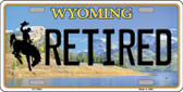 Retired Wyoming Background Metal Novelty License Plate