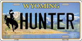 Hunter Wyoming Background Metal Novelty License Plate