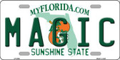 Magic Florida Novelty State Background Metal License Plate LP-2584