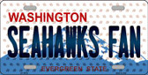 Seahawks Fan Washington Background Novelty Metal License Plate