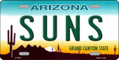 Suns Arizona Novelty State Background Metal License Plate LP-2586