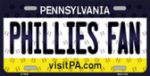 Phillies Fan Pennsylvania Background Novelty Metal License Plate