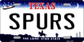 Spurs Texas State Background Metal Novelty License Plate LP-2589