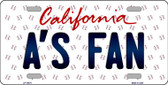 As Fan California Background Novelty Metal License Plate