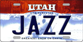 Jazz Utah Novelty State Background Metal Novelty License Plate