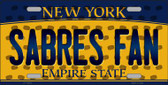 Sabres Fan New York Background Novelty Metal License Plate