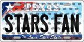 Stars Fan Texas Background Novelty Metal License Plate