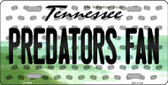 Predators Fan Tennessee Background Novelty Metal License Plate
