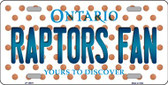 Raptors Fan Ontario Background Novelty Metal License Plate