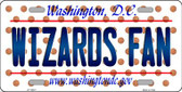 Wizards Fan Washington DC Background Novelty Metal License Plate