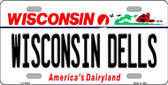 Wisconsin Dells Wisconsin Background Metal Novelty License Plate