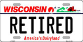 Retired Wisconsin Background Metal Novelty License Plate