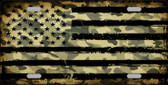 Camo American Flag Novelty Metal License Plate