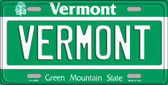Vermont Background Metal Novelty License Plate