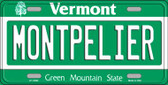Montpelier Vermont Background Metal Novelty License Plate