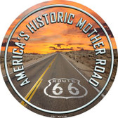 Mother Road Route 66 Novelty Metal Circular Sign